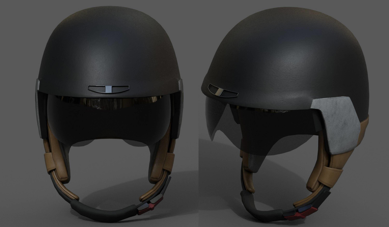 Helmet sport Color 3d model Generic military bike scifi