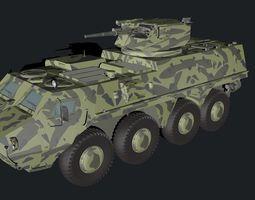 3D model BTR - 4 Parus module