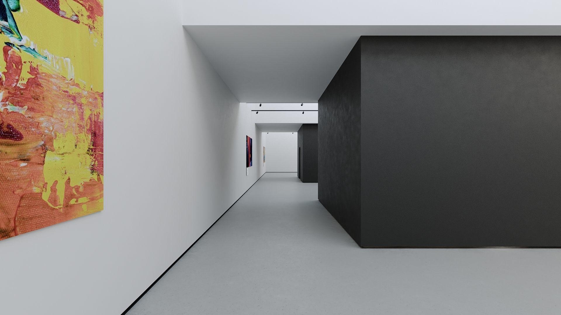 VR Art Gallery 2020 4K Corona Max Scene