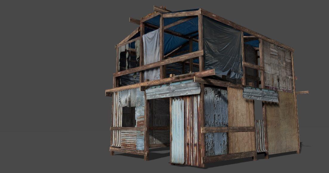 Lowpoly shanty house