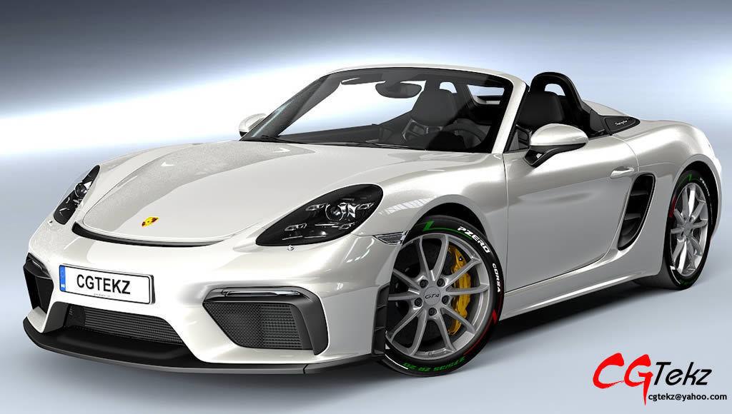 3D model Porsche Boxster Spyder 2020   CGTrader