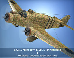 3D Savoia-Marchetti SM 81 Spanish Civil War