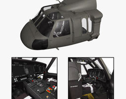 UH-60M Blackhawk Cockpit 3D Model