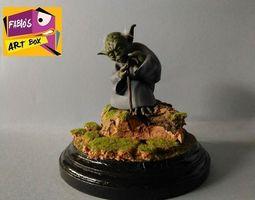 wars Yoda 3d printed