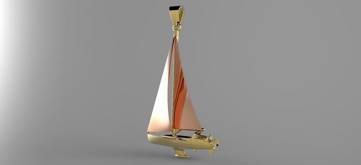 Sailing Yacht Pendant