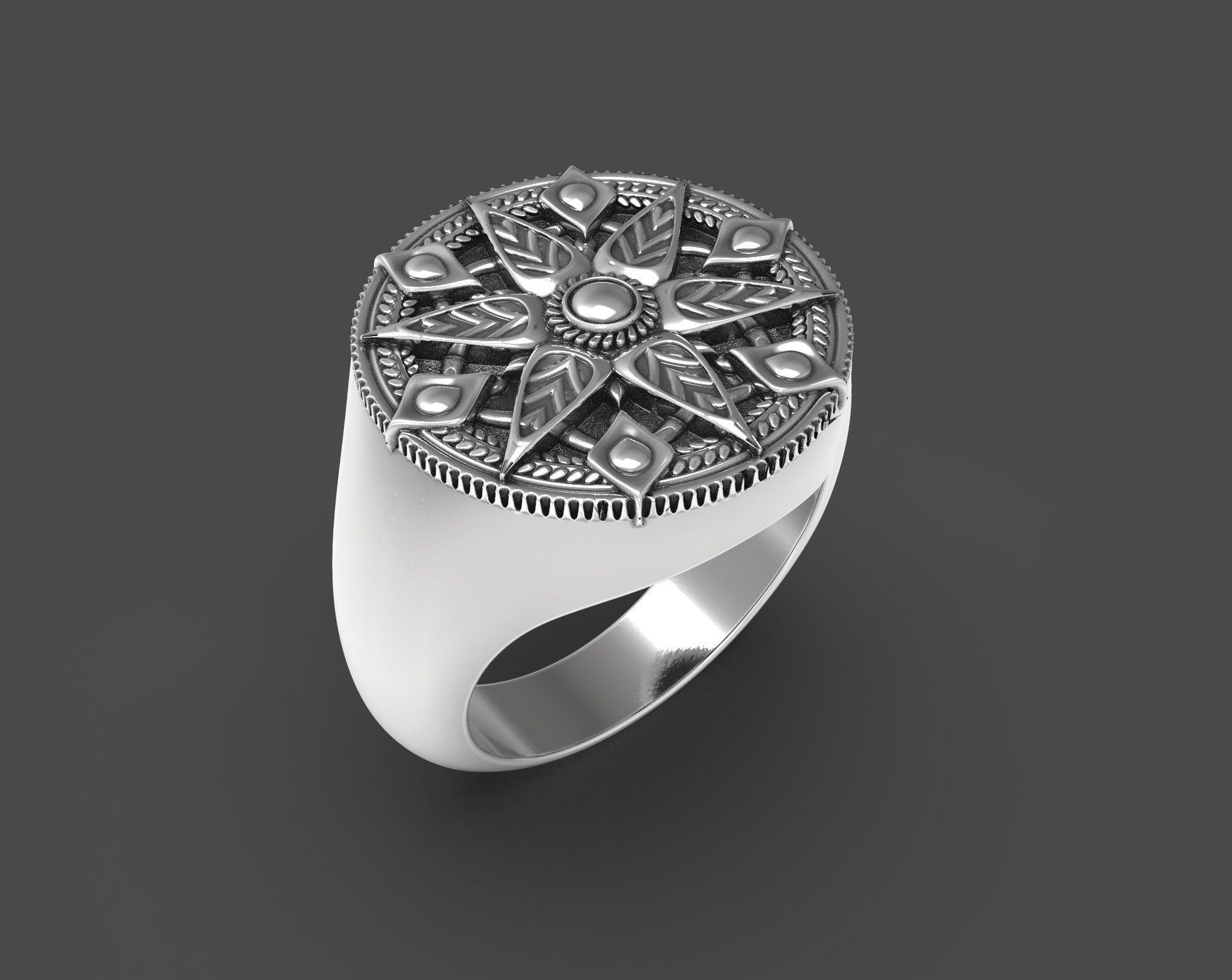 Ornamented rings set