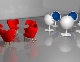3D Chair lounge-chair