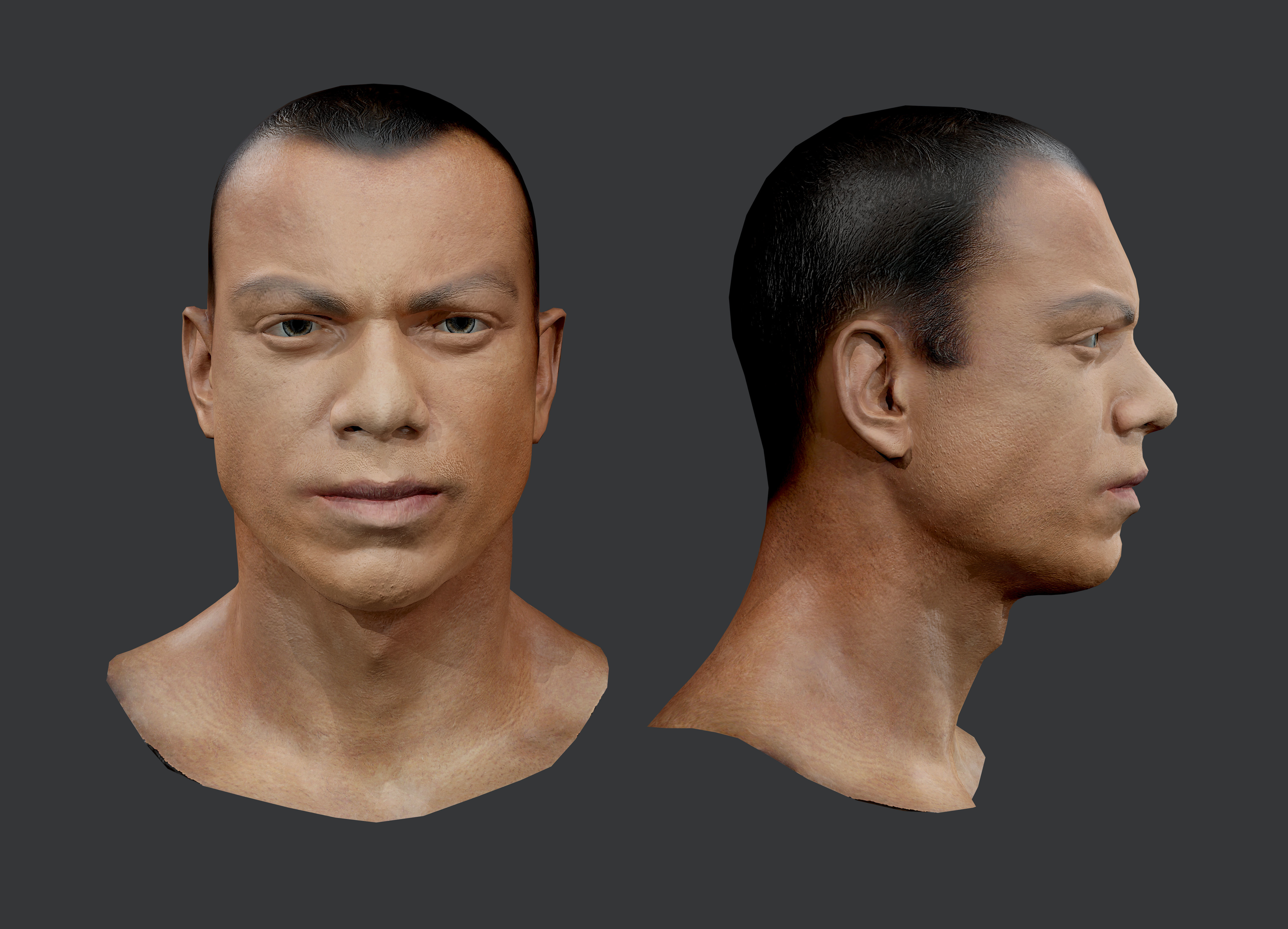 Male Human Character Head Game Ready 01