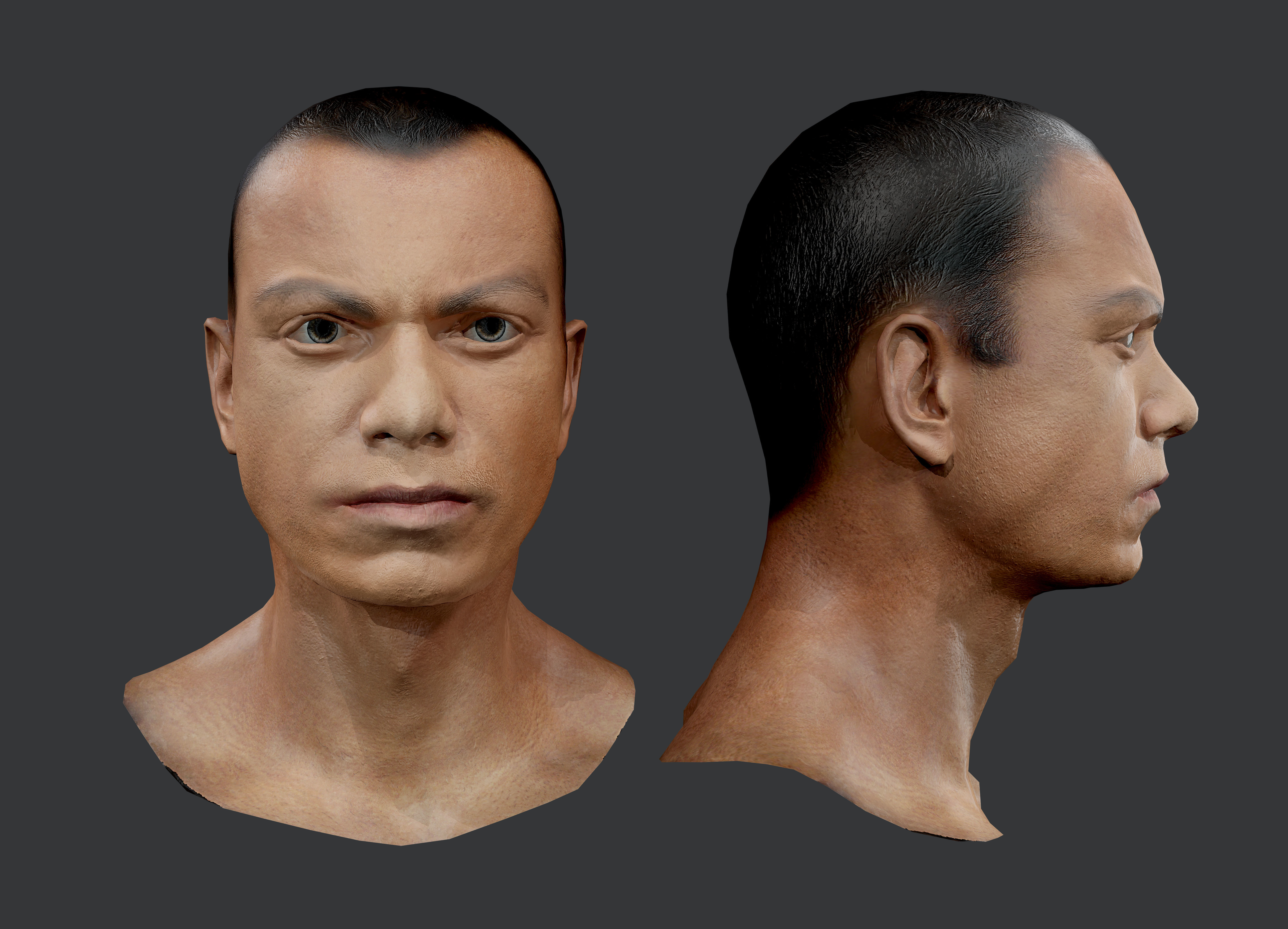 Male Human Character Head Game Ready 02