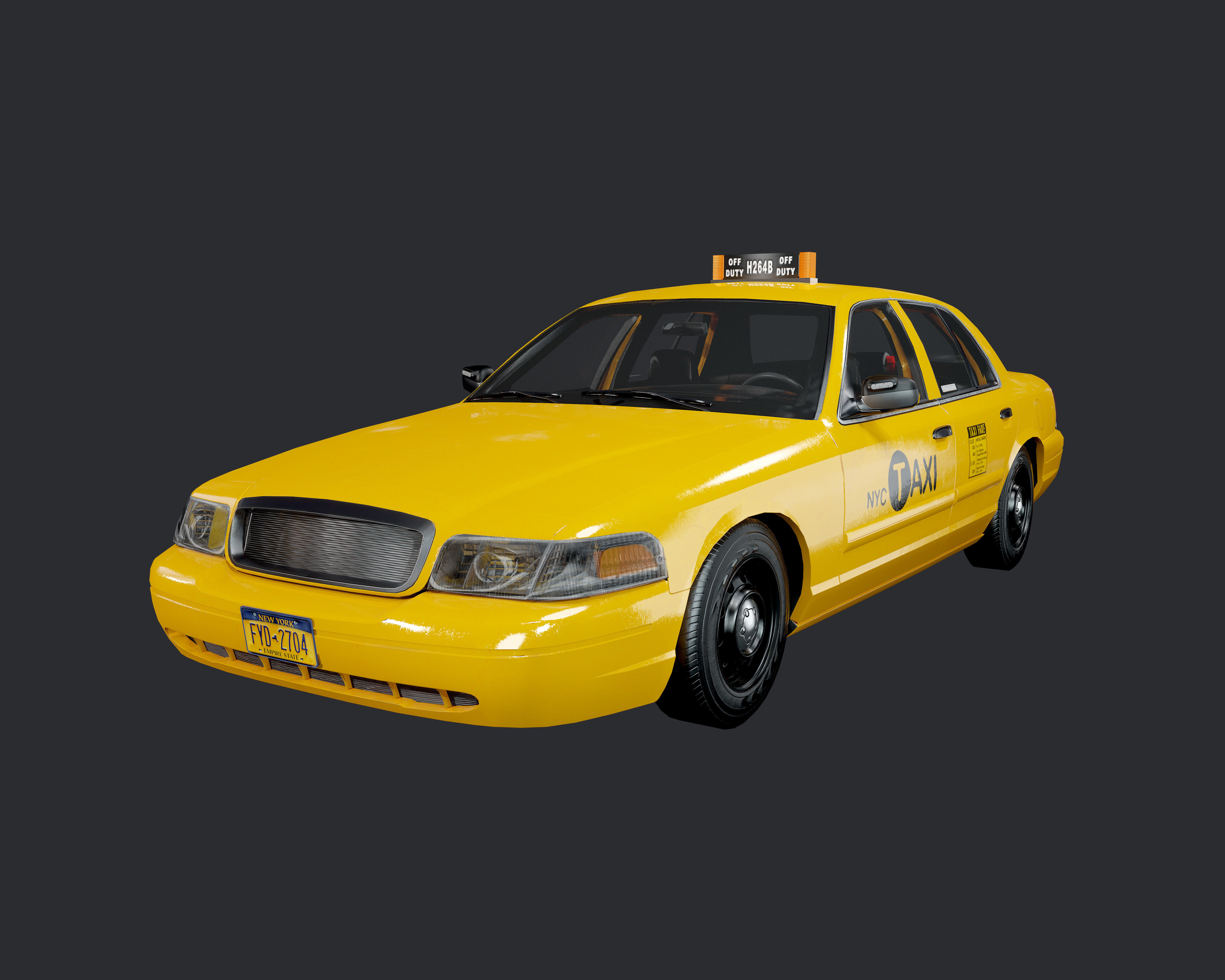 Taxi Cab Vehicle Game Ready