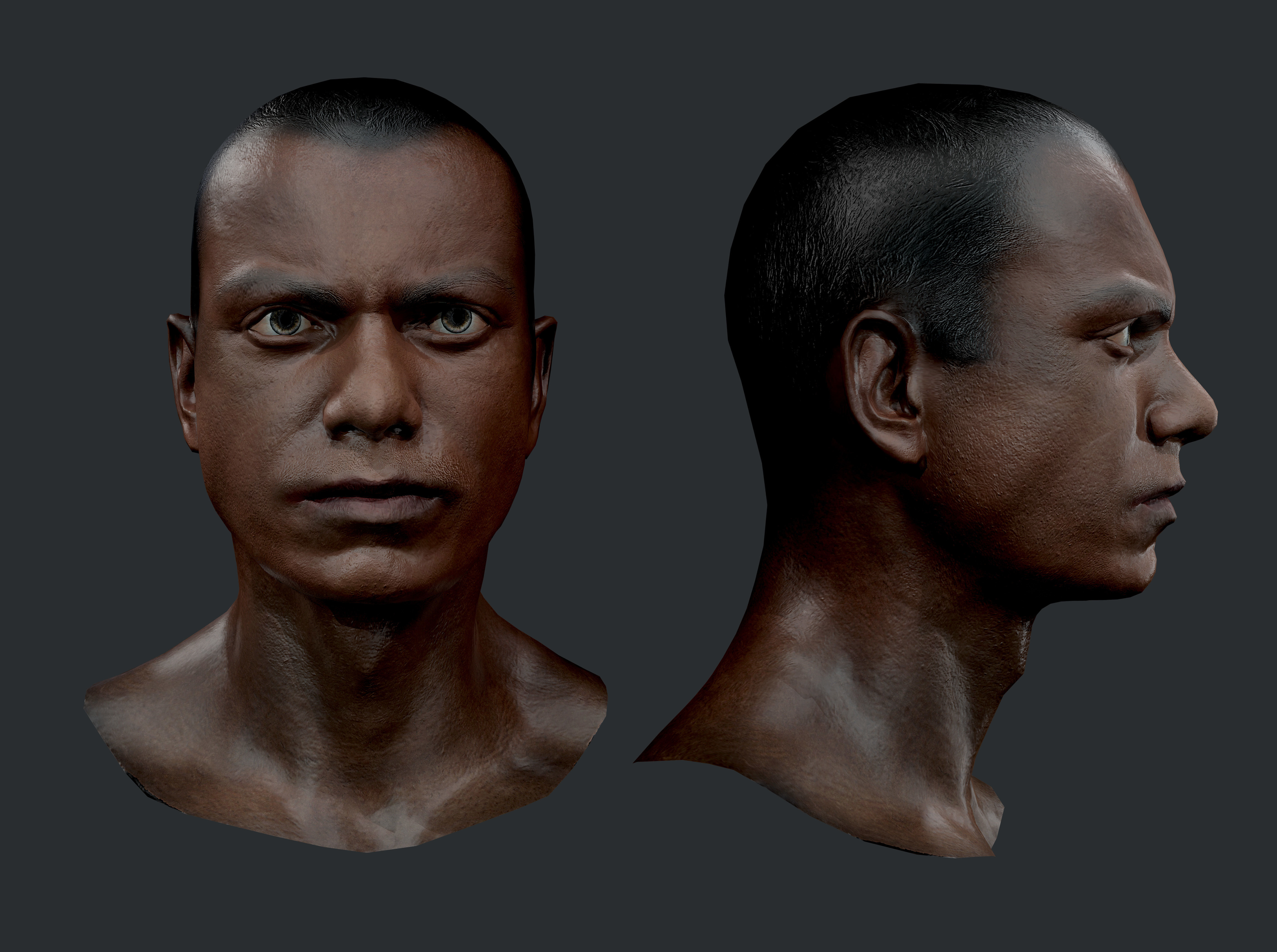 Male Human Character Head Game Ready 06