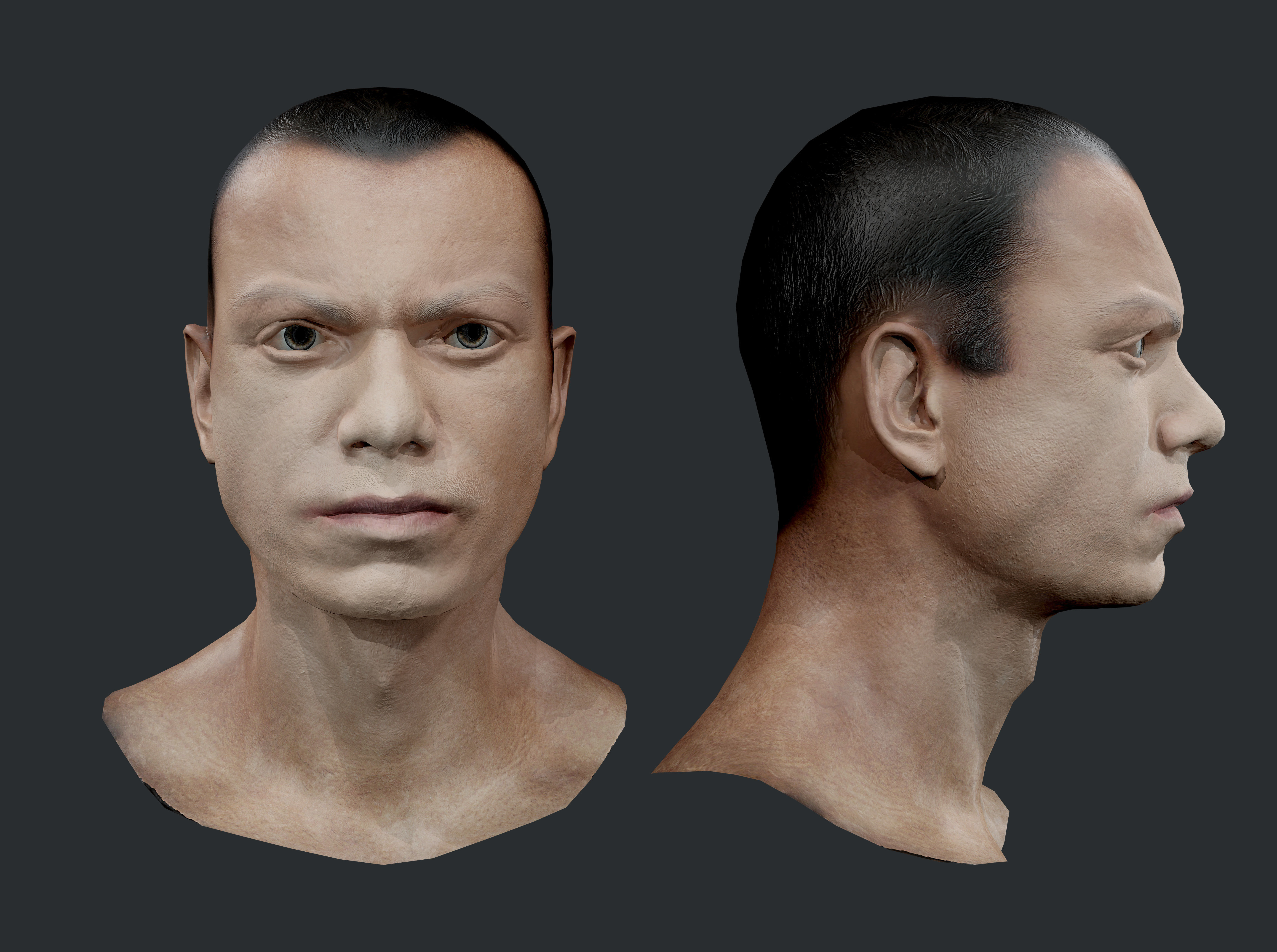Male Human Character Head Game Ready 09