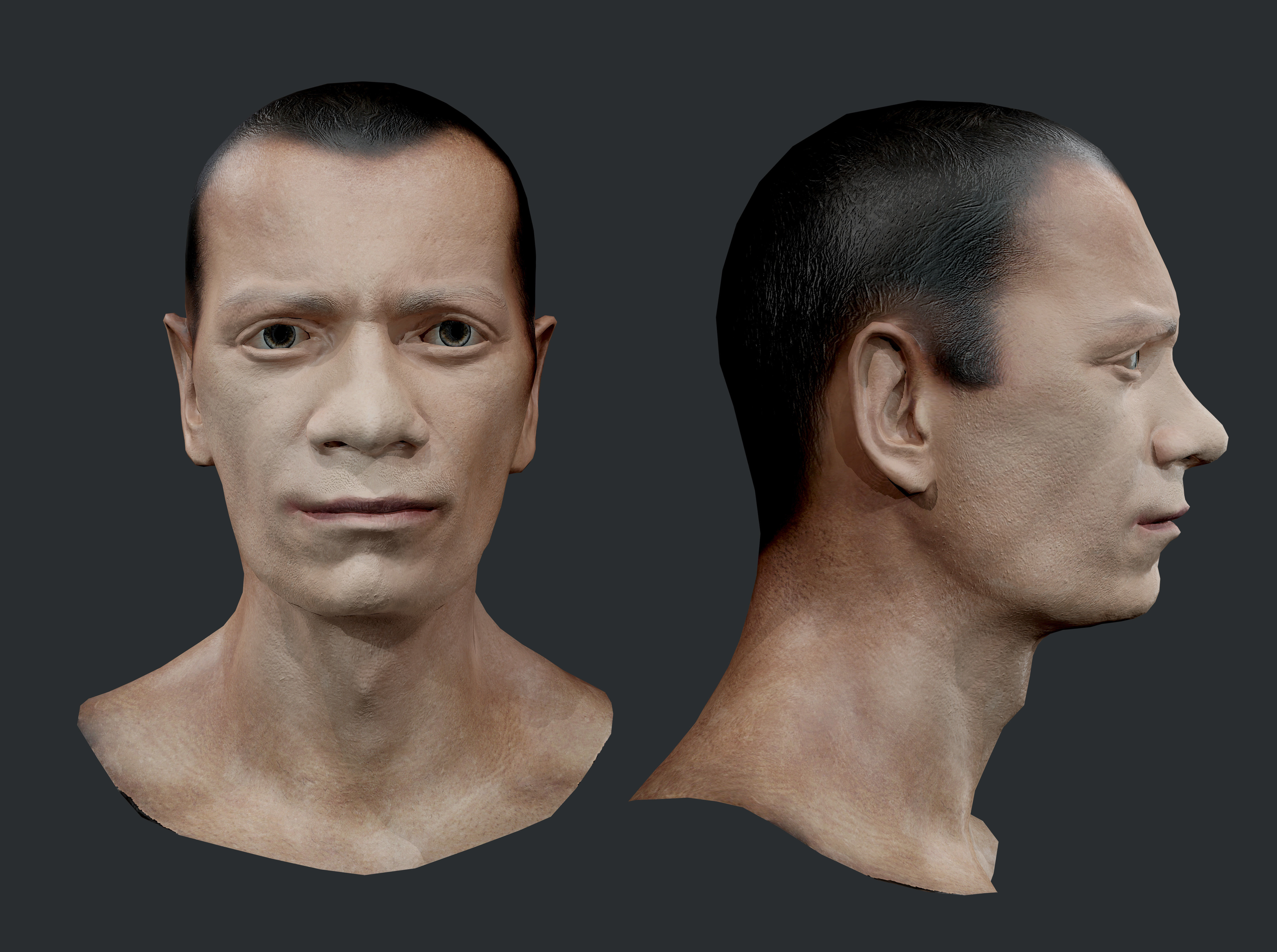 Male Human Character Head Game Ready 10