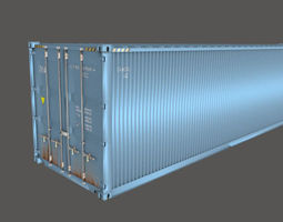 3D model Shipping Container 40 Feet Box