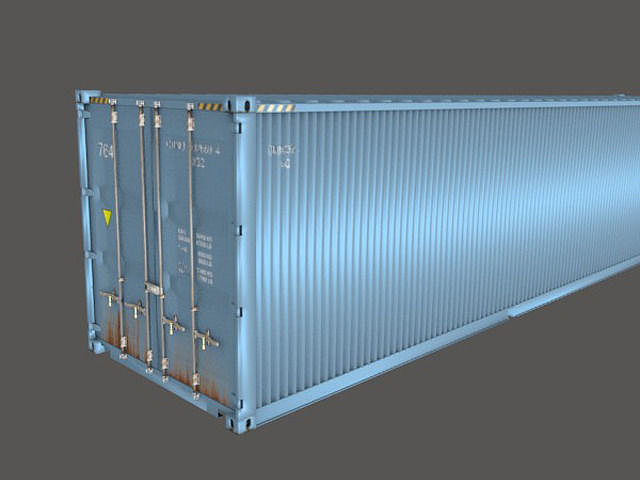 shipping container 40 feet box 3d model obj 3ds blend X dwg mtl 1