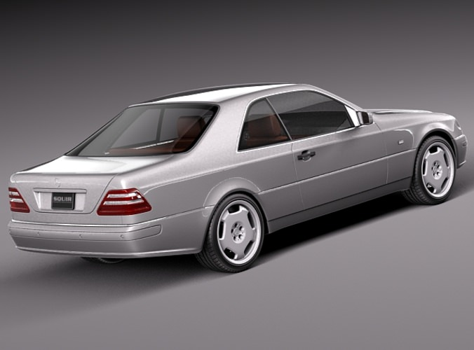 Mercedes benz cl500 c140 1993 1998 3d model max obj 3ds for Mercedes benz royale 600 price