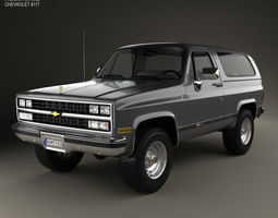 Chevrolet Blazer K5 1989 3D Model