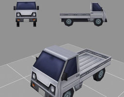 car model low-poly for games 3D asset