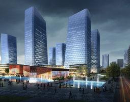 3d skyscraper business center 156