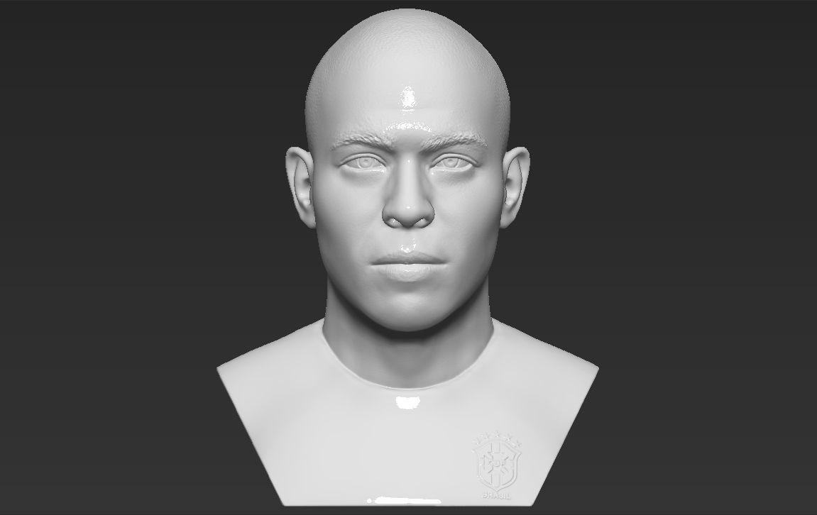 Ronaldo Nazario Brazil bust 3D printing ready stl obj formats