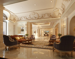 luxury lobbies and corridors collection 10 3d models