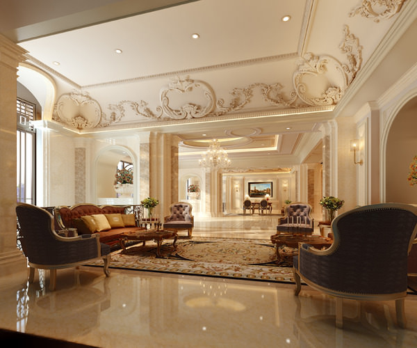 Luxury lobbies and corridors Collection 10...3D model