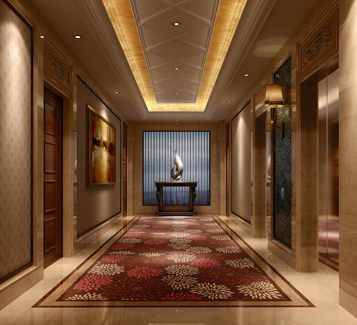 Luxury Lobbies And Corridors Collection 10 3D Model
