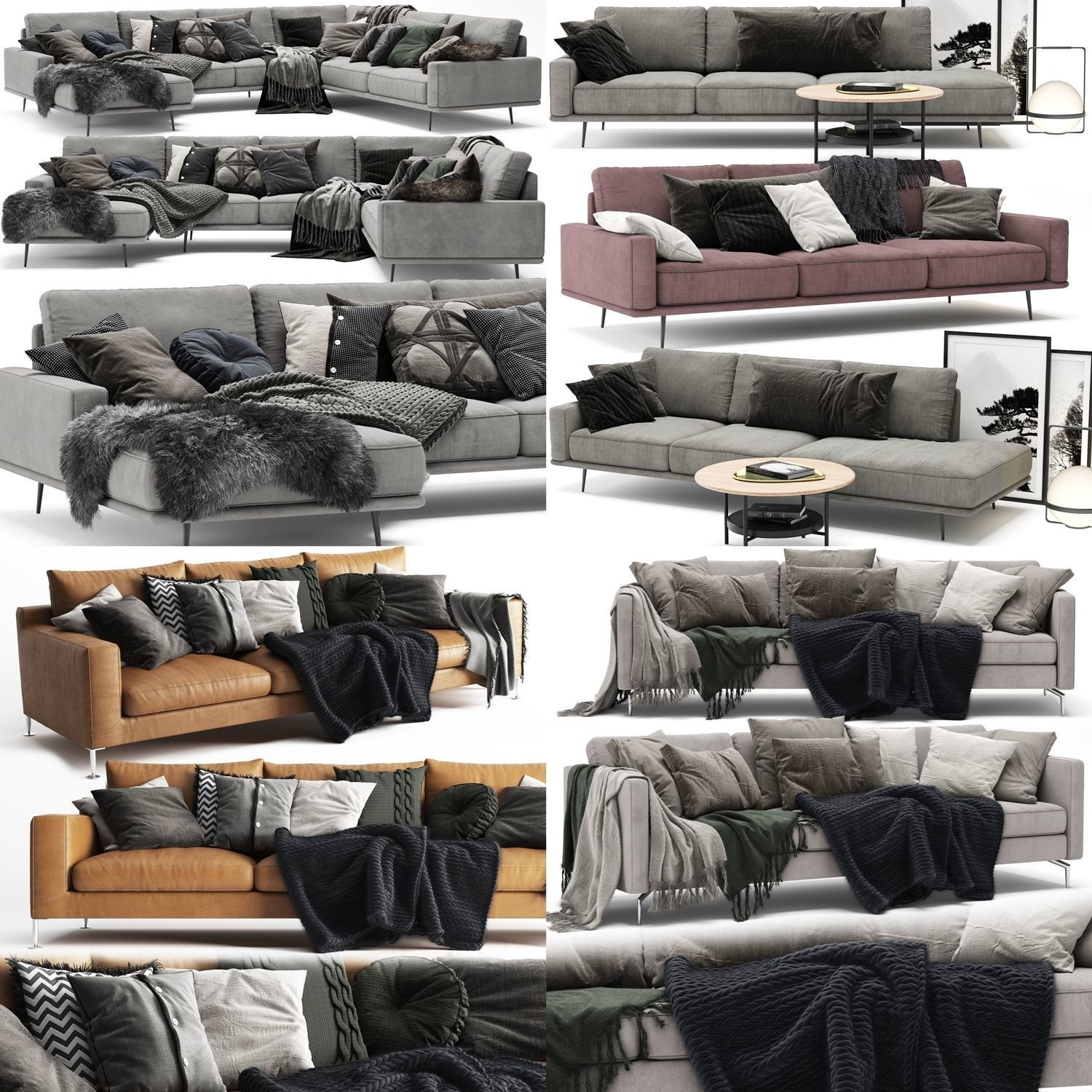 Sofa Collection 01 - 5 Items