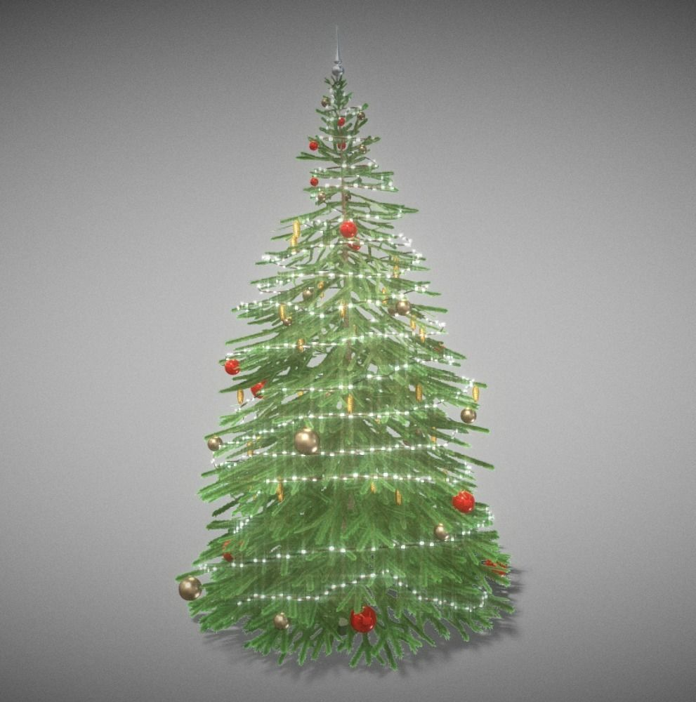 Model Of Christmas Tree: Indoor Christmas Tree 2m 3D Model Realtime