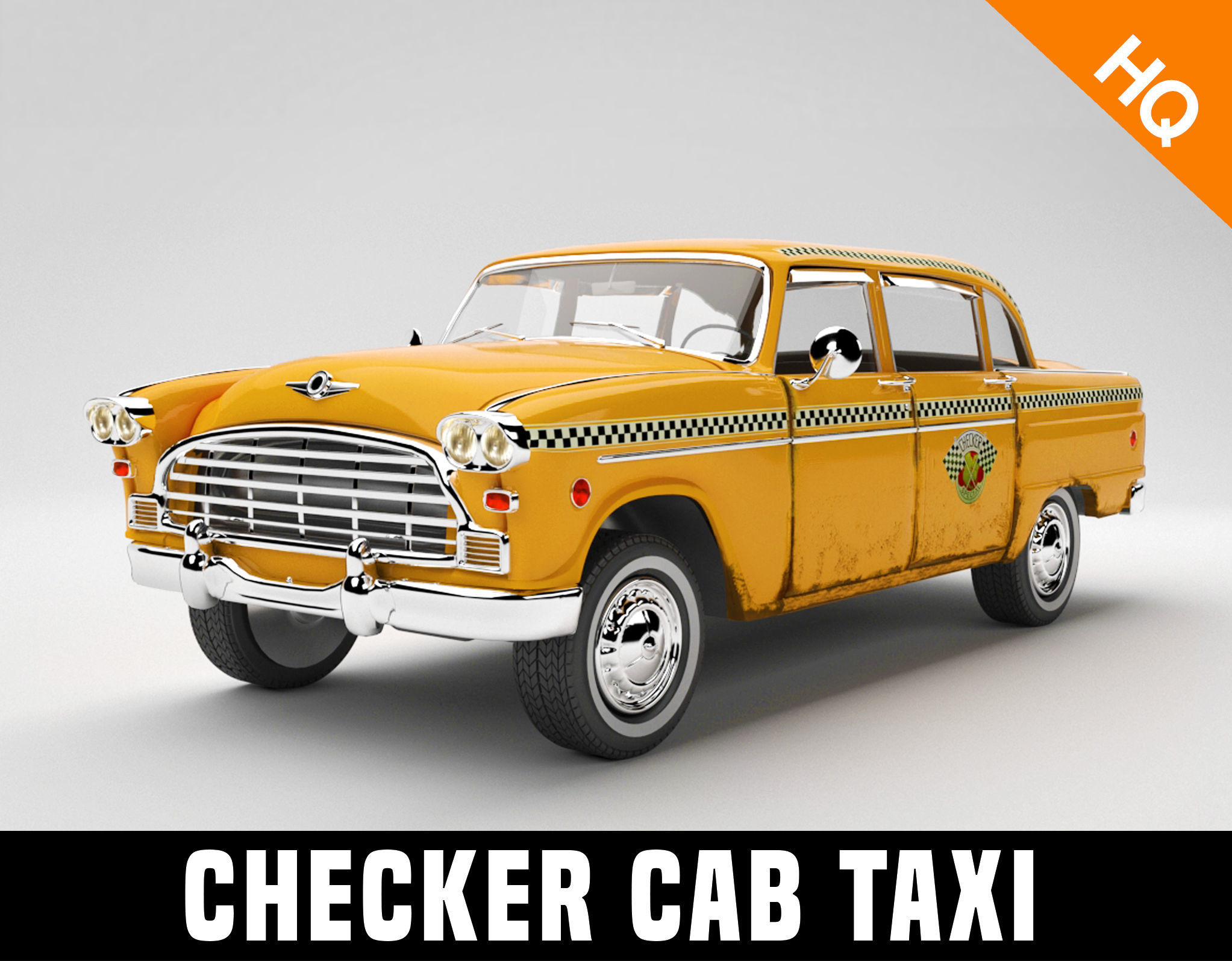 Taxi Car Old  Checker Cab Taxi Chicago