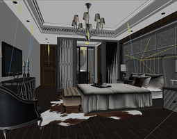 Luxury bedrooms Collection 11 3D models