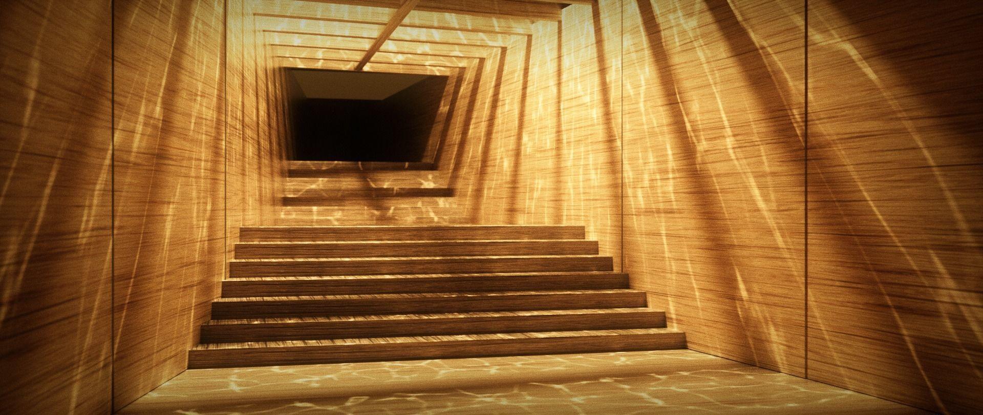 3d Caustic Corridor Blade Runner 2049 Cgtrader