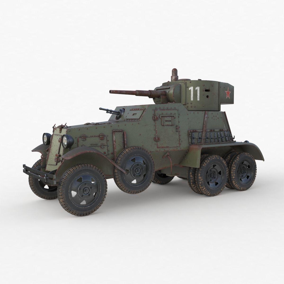 BA 6 Armored Car  Vray