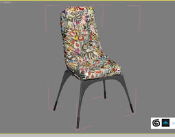 Crumpled Paper Chair 3D Model