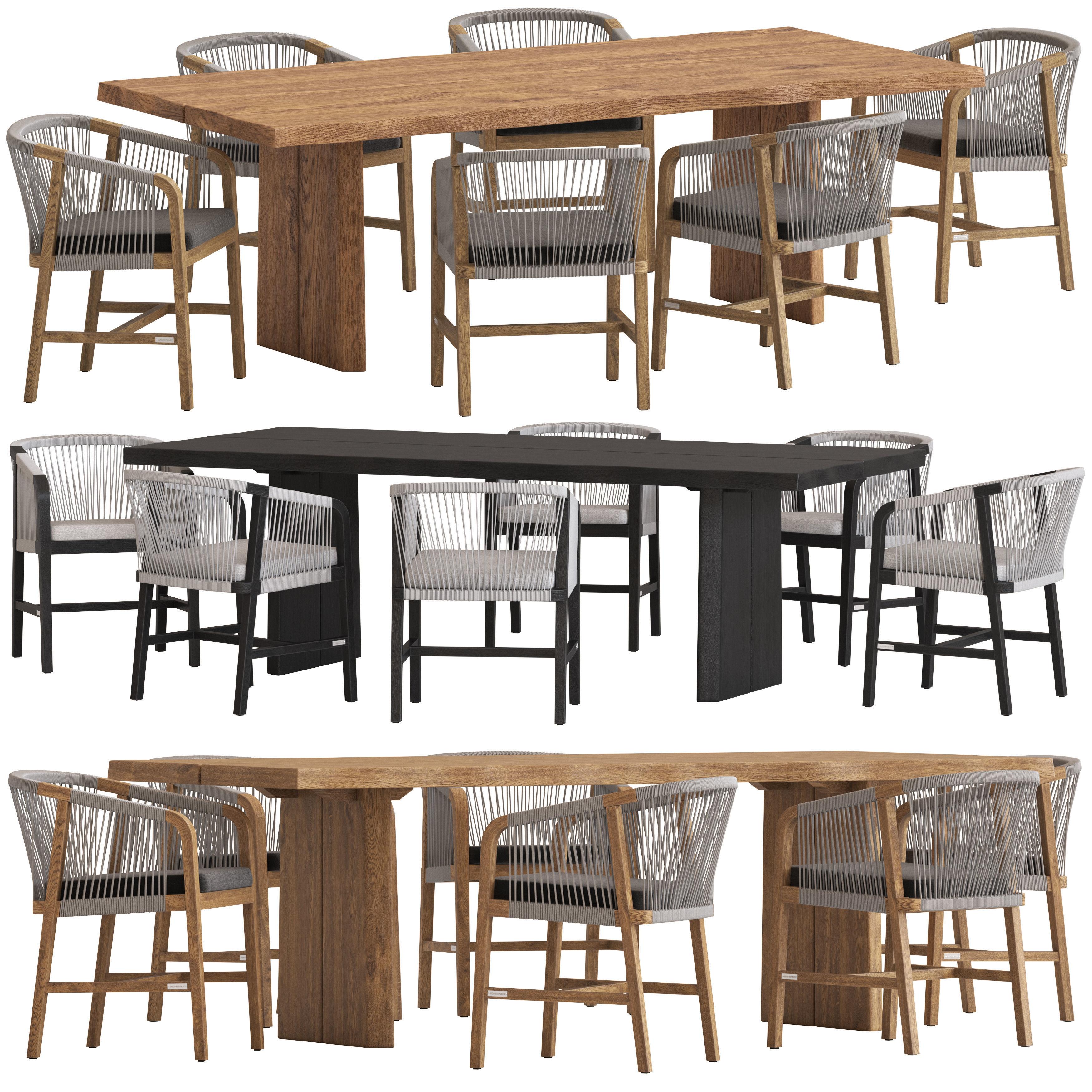 Coco Republic St Joseph Chair And Newport Table 3d