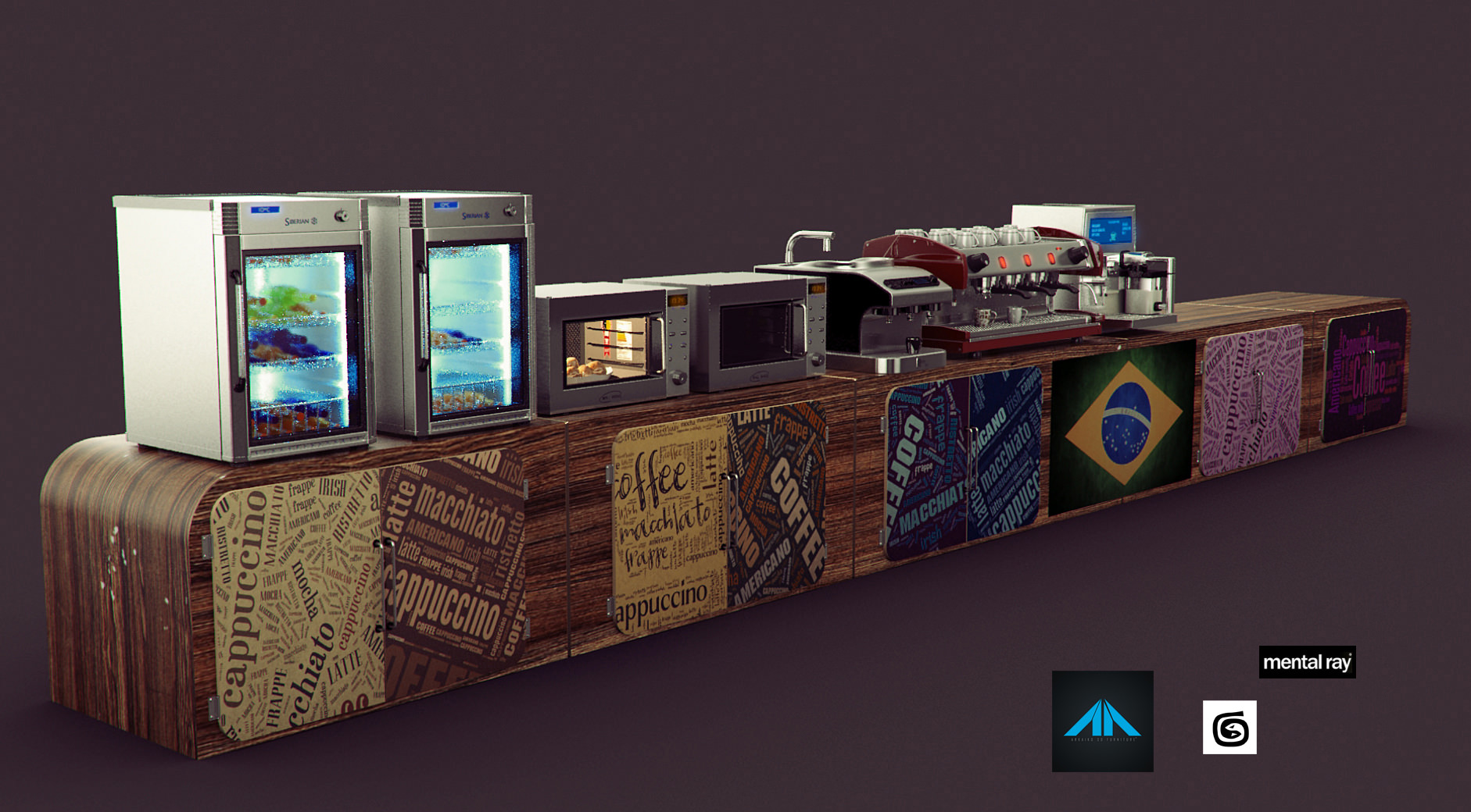 Coffee Shop Items Free 3d Model Max Cgtrader Com