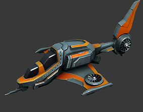 3D asset Sci-fi Spaceship - low poly