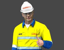 Coates Hire Worker 3D Model