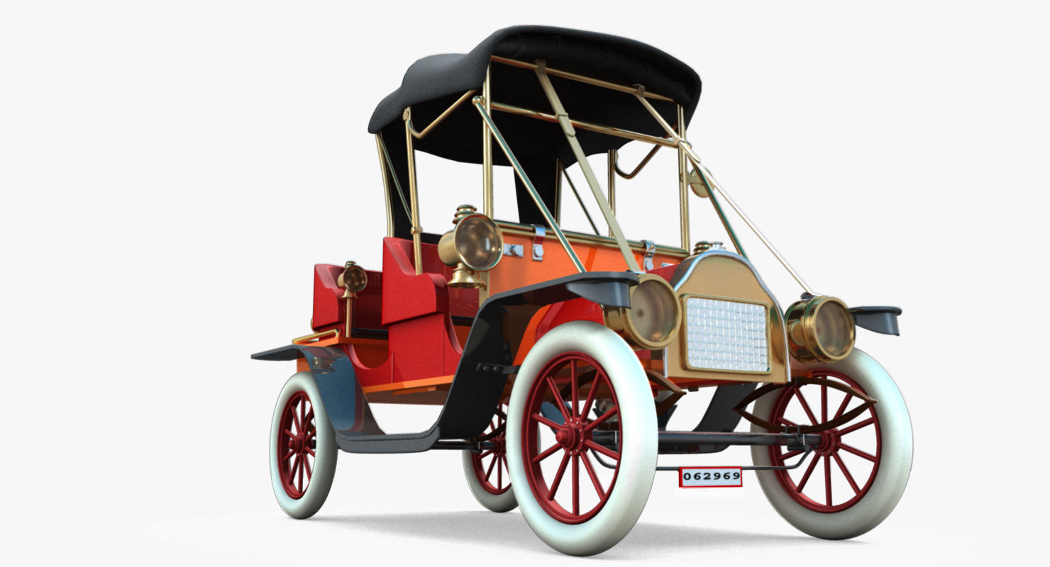 3D antique car | CGTrader