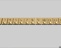 3D printable model Rummikub -okay- Tiles