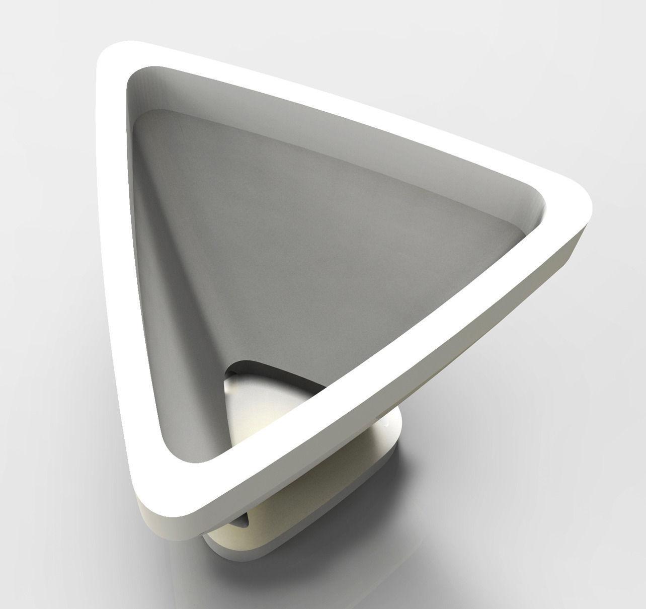 Triangular Flowerpot Model Stl 3