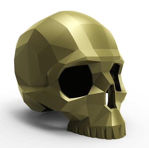 faceted skull 3d model stl 1