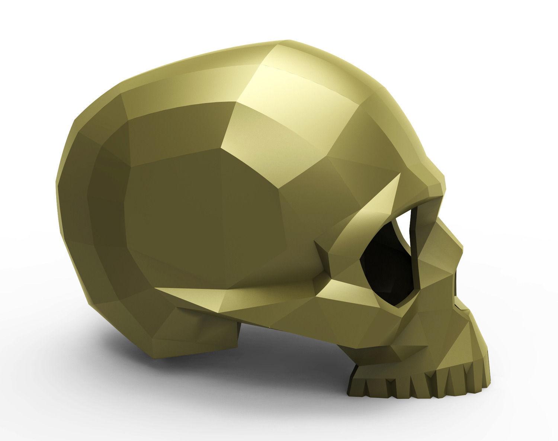 Faceted skull 3D Model 3D printable STL | CGTrader.com