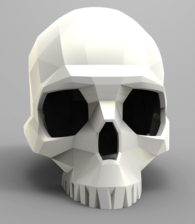 Faceted Skull 3D Model 3D Printable STL