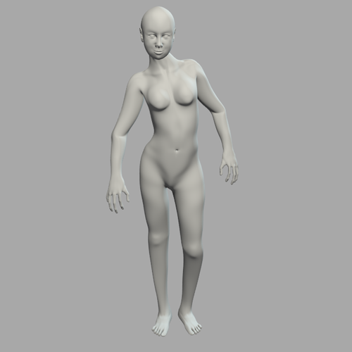 Generic woman rigged 3D Model .blend