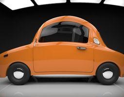 funny cartoon car 3D asset