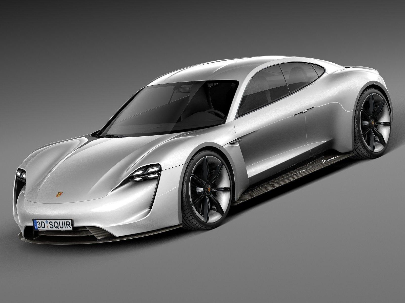 Porsche Mission E Concept 2015 3d Model Max Obj 3ds