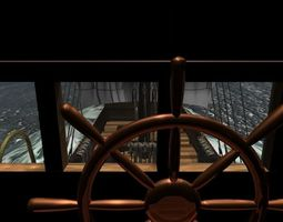 cog-type sailing ship 3d