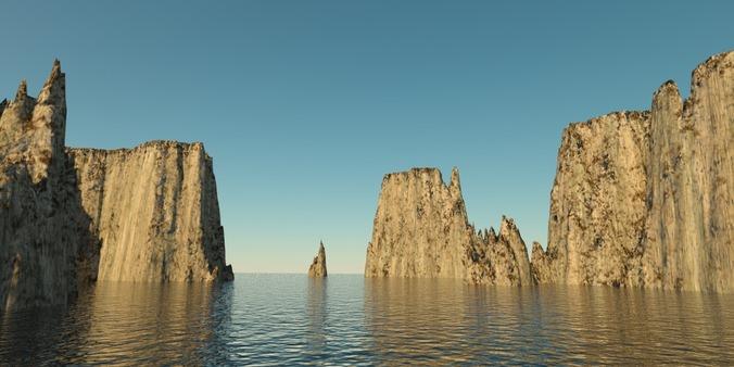 Landscape - rocky islands 013D model