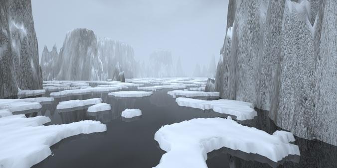 Landscape - rocky islands 023D model